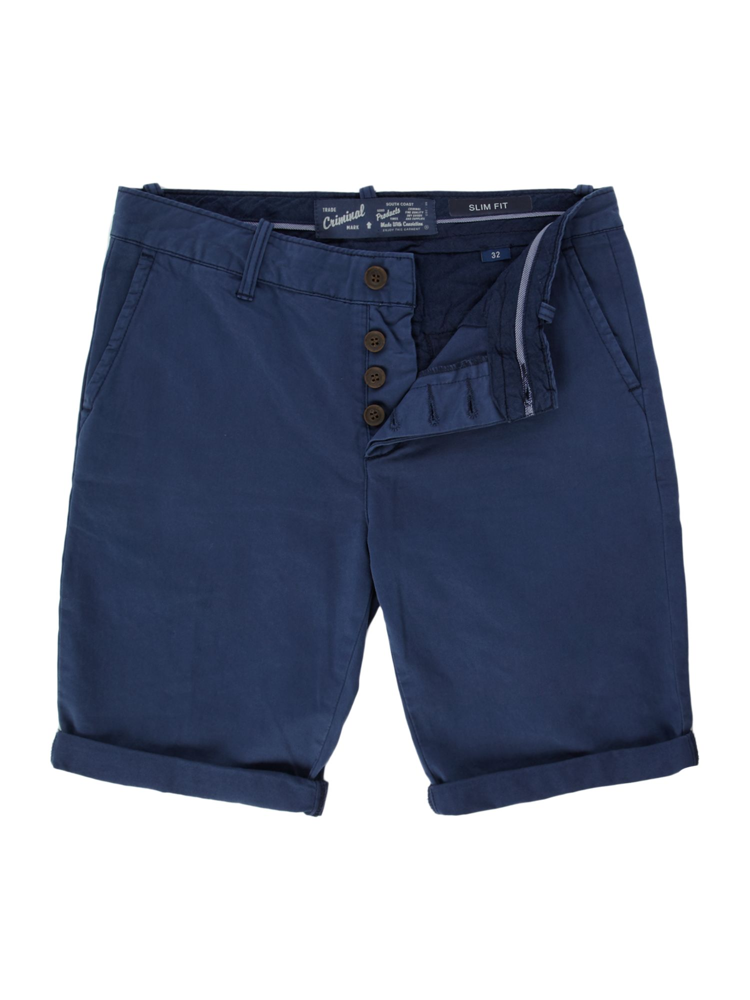 Chino slim fit short