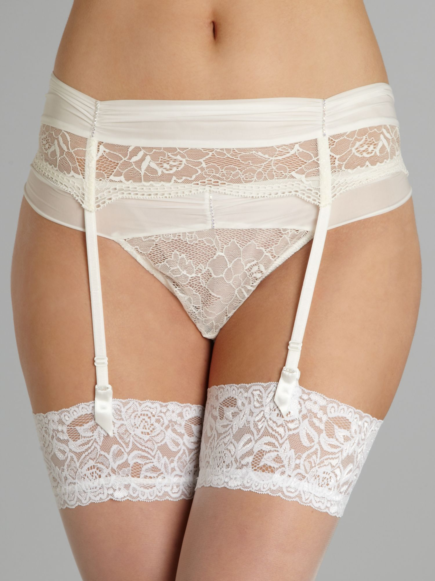 Crystal suspender belt