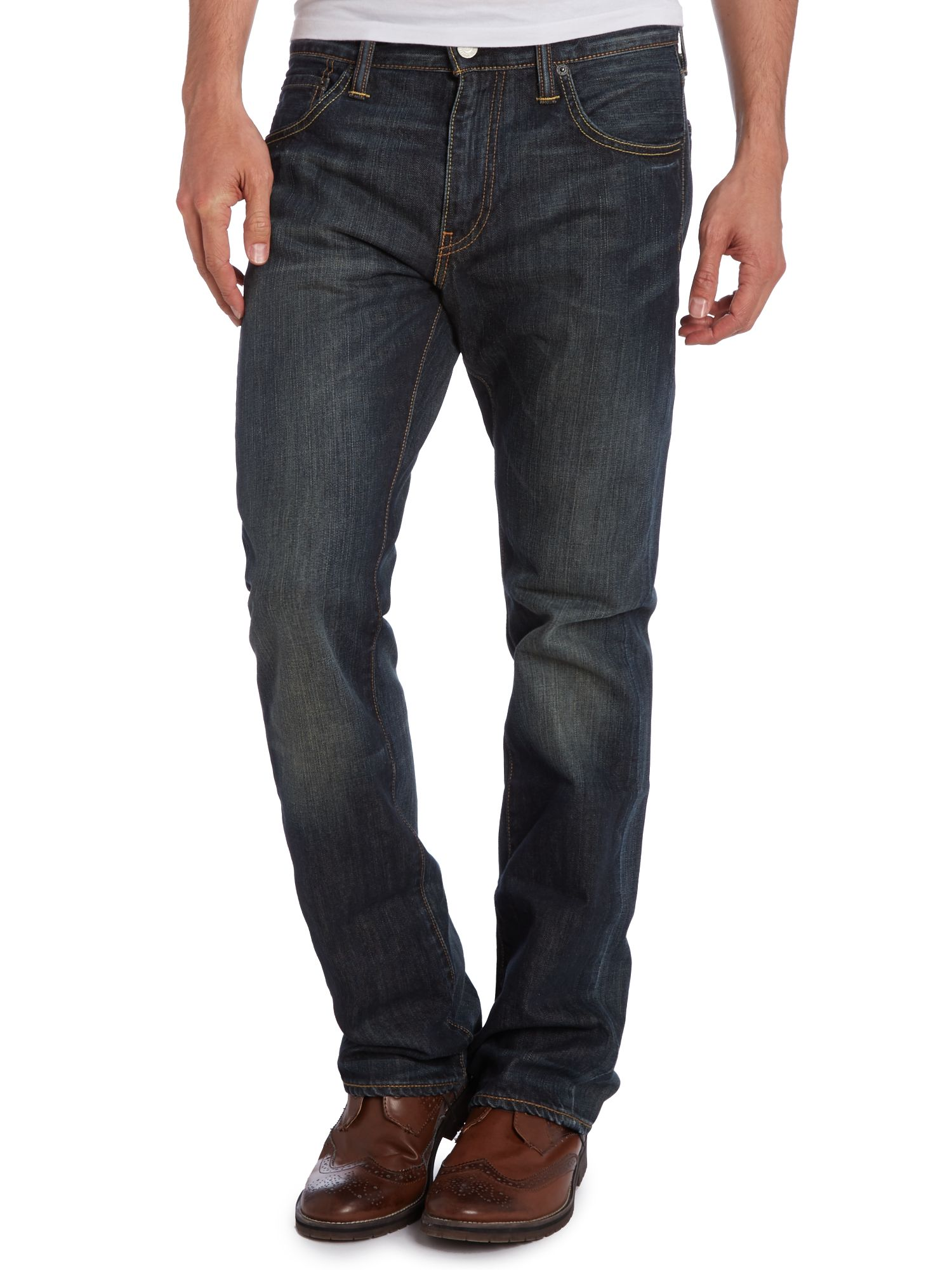 527 Bootcut Dusty Black washed jeans