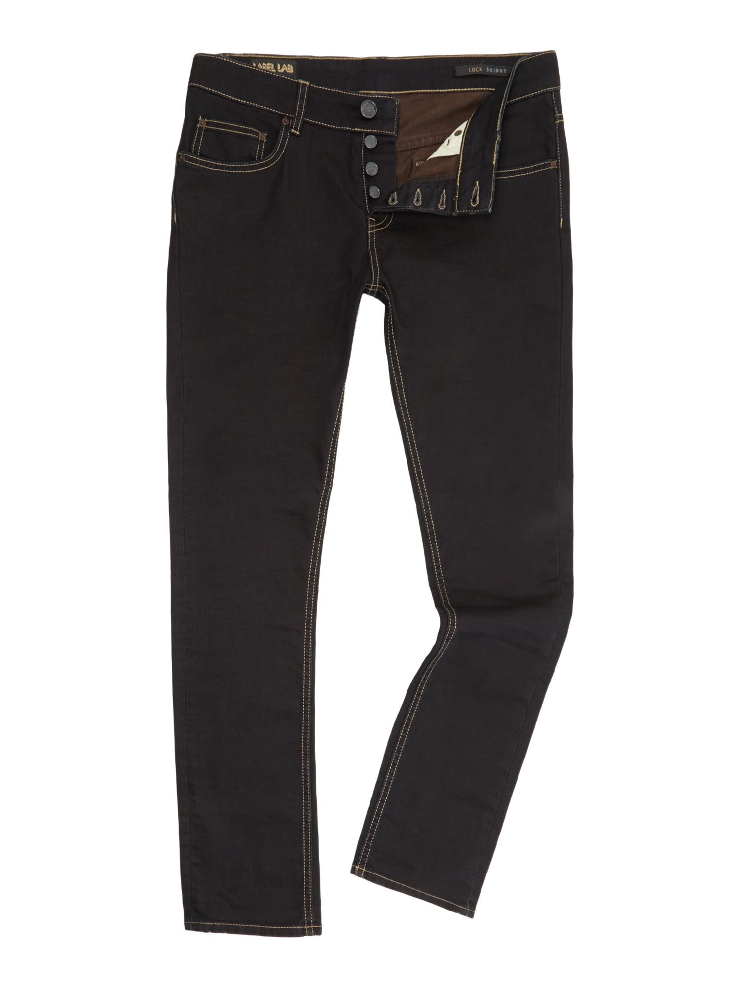 Poker straight taper leg jean