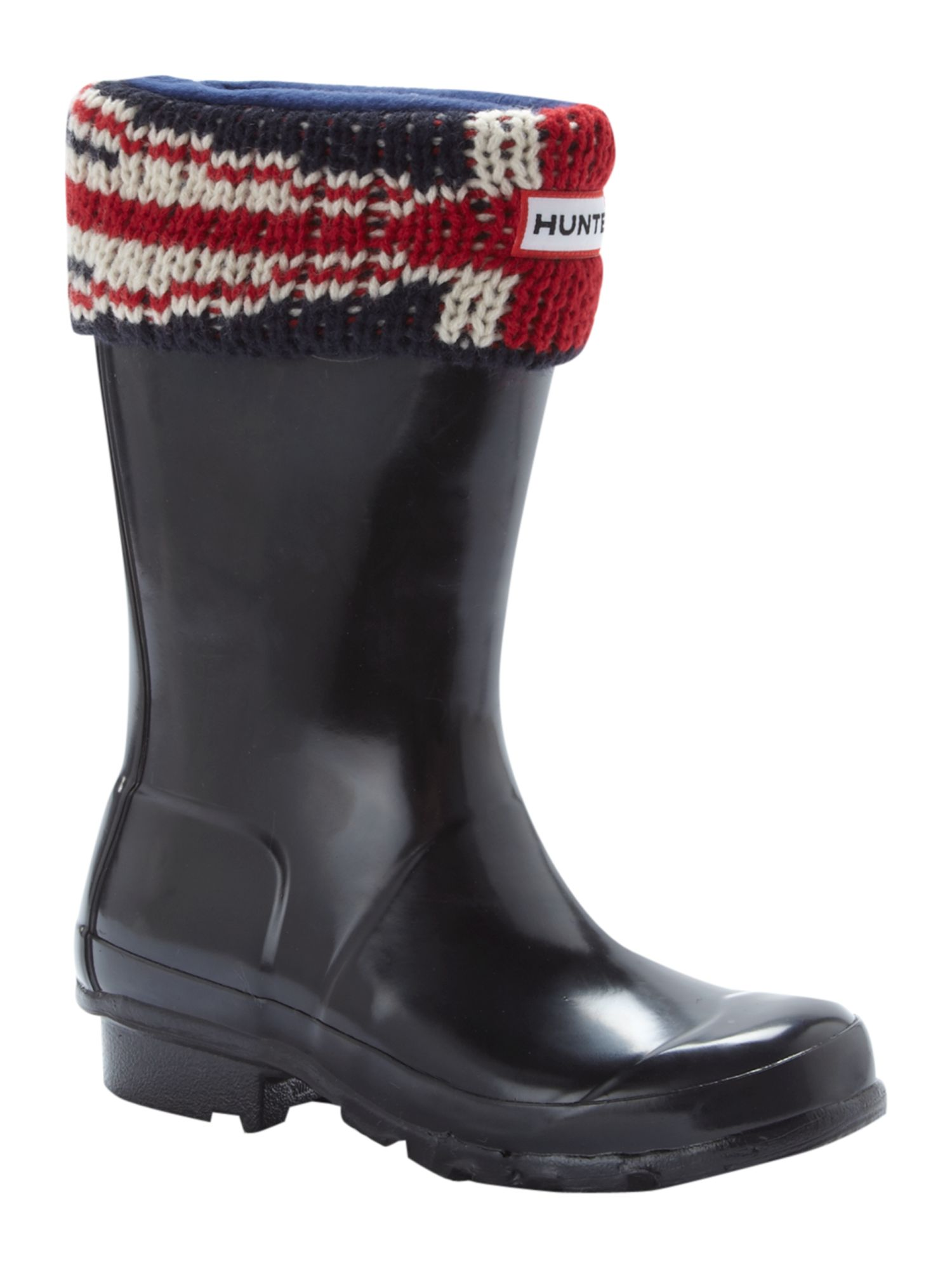 Union Jack printed welly socks