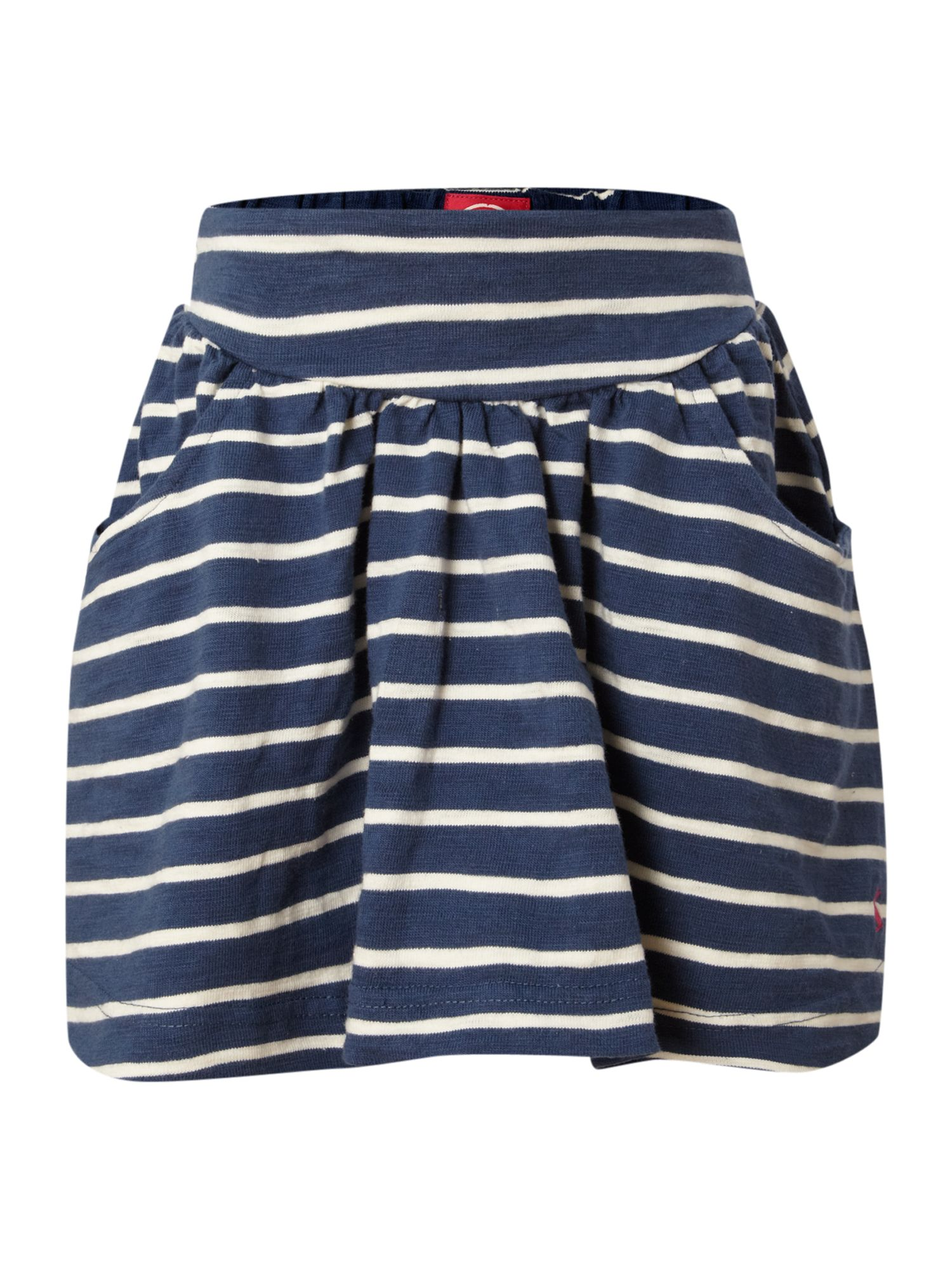Girls jersey stripe skirt