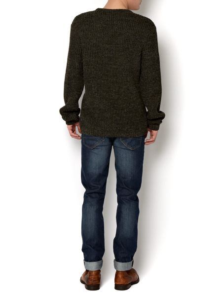 Label Lab Multi textured crew neck jumper