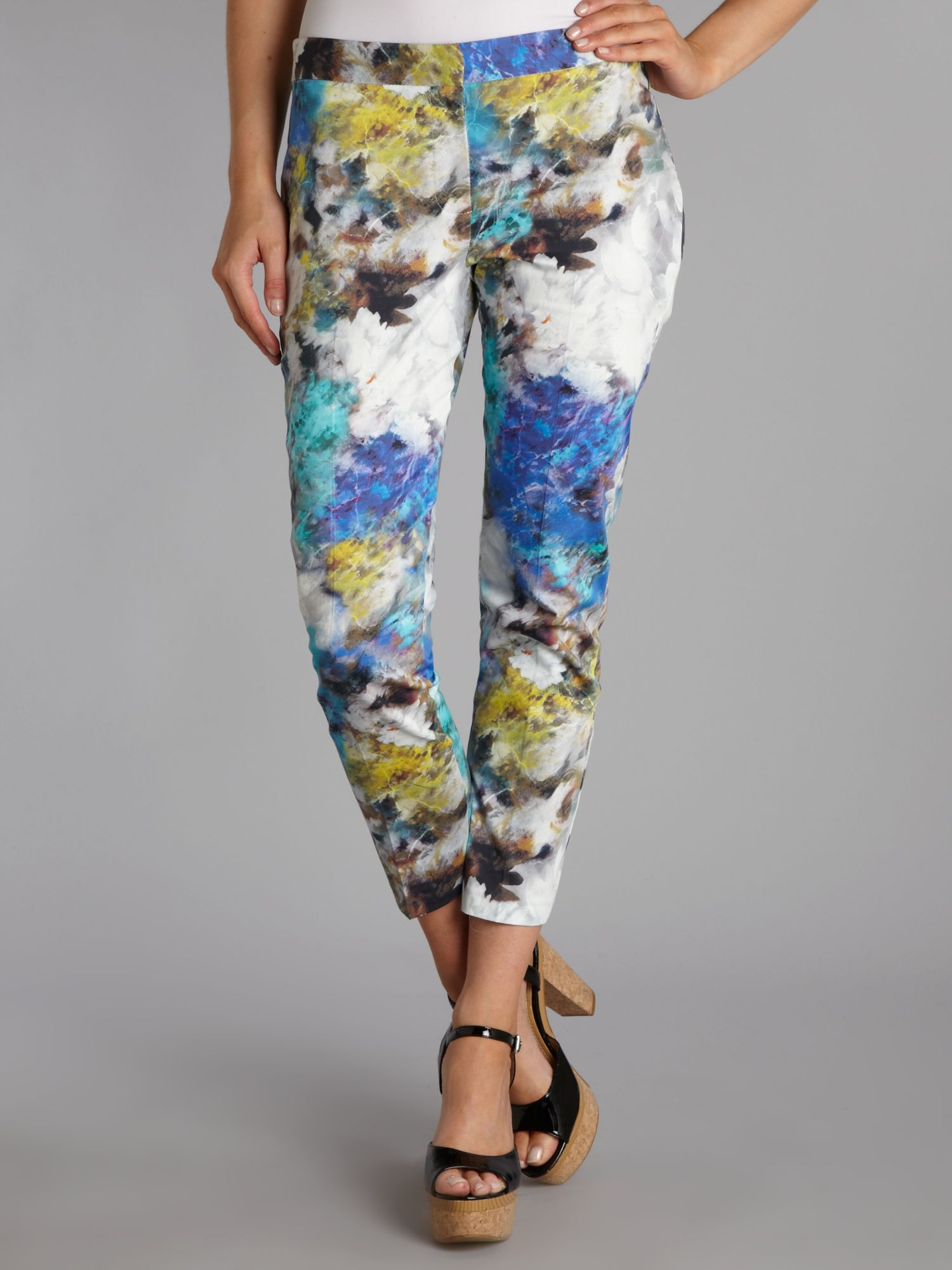 Almari print pleat front trouser