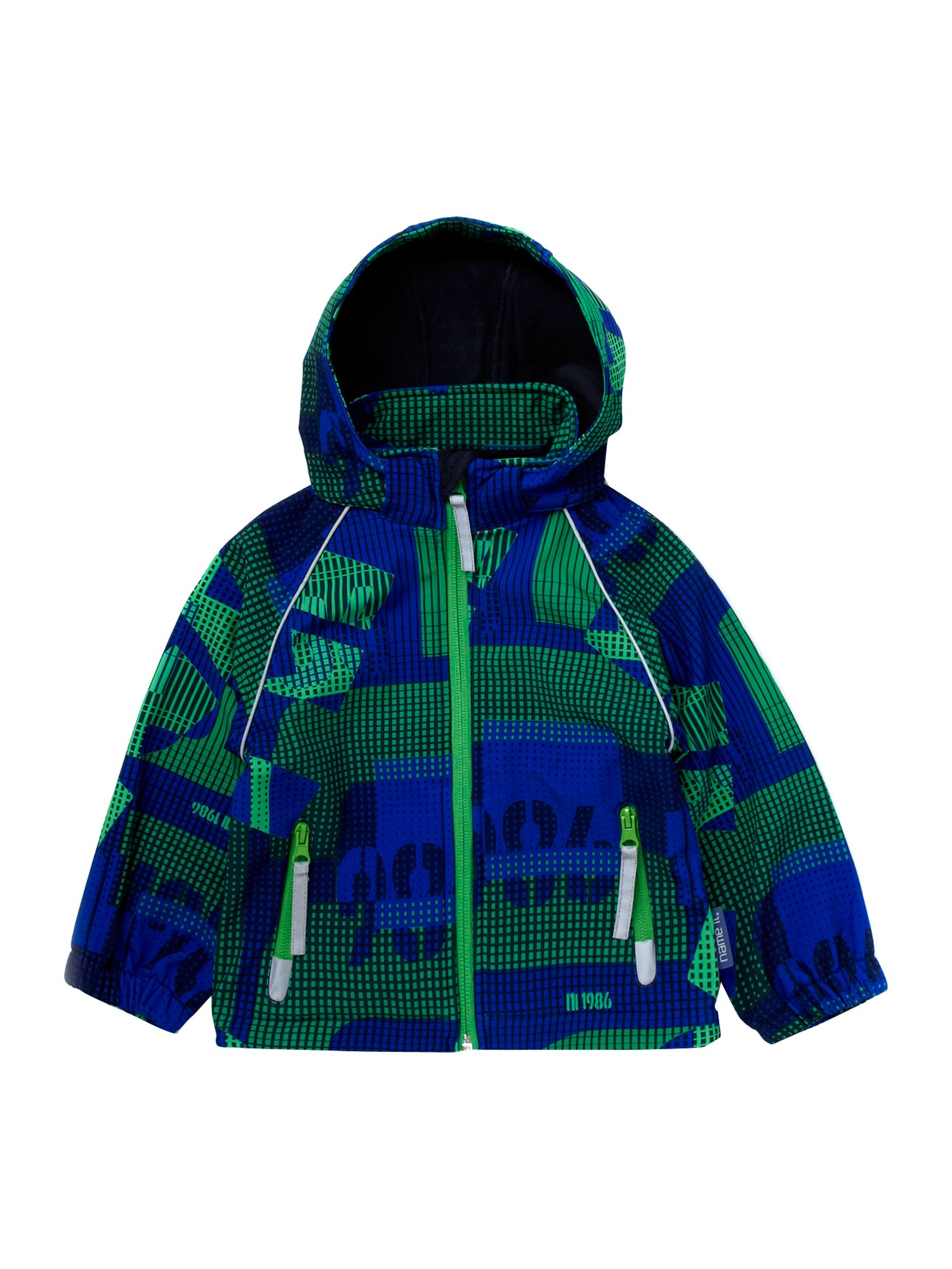Boy`s printed Ski hooded jacket