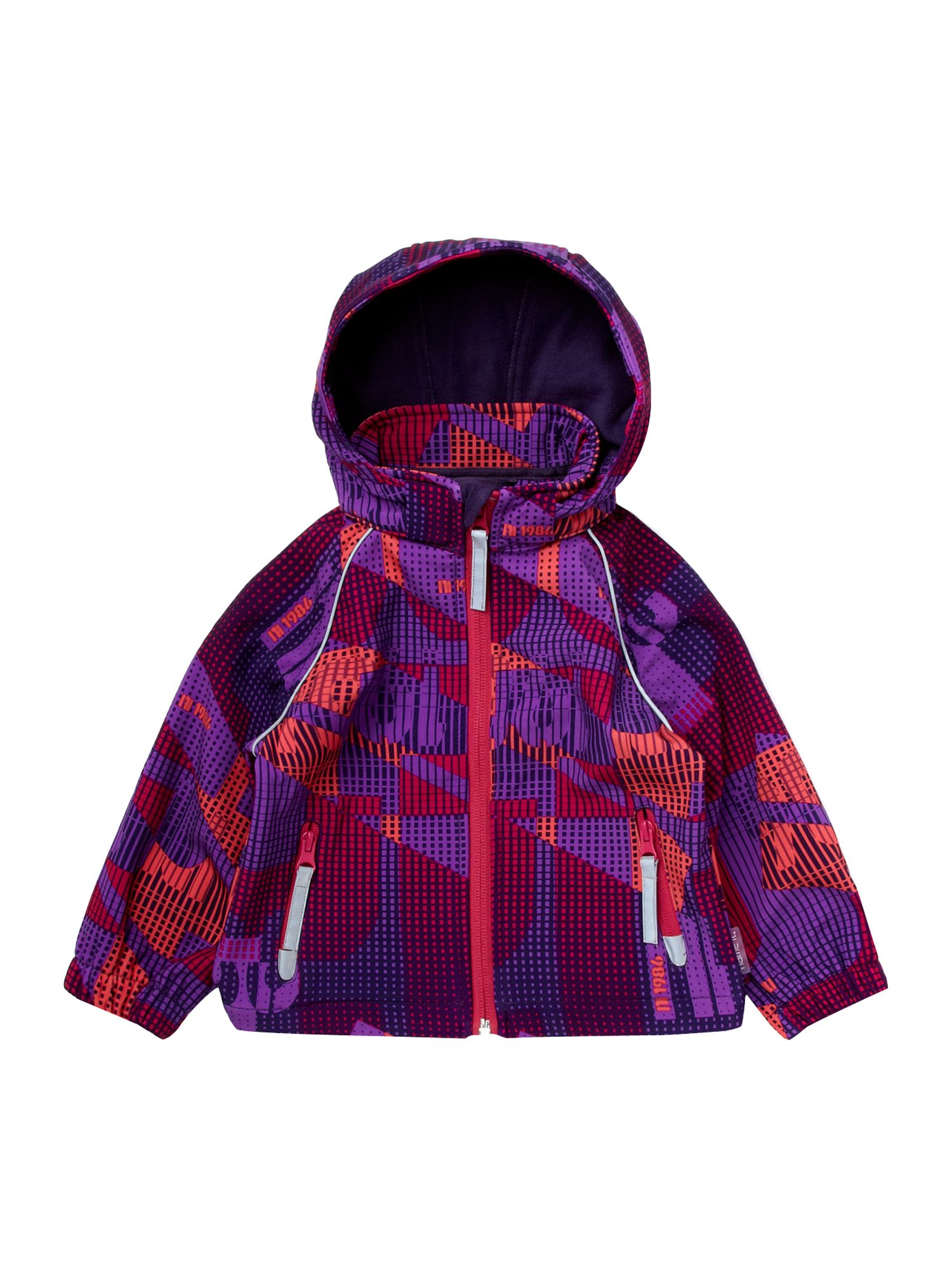 Girl`s Ski printed hooded jacket
