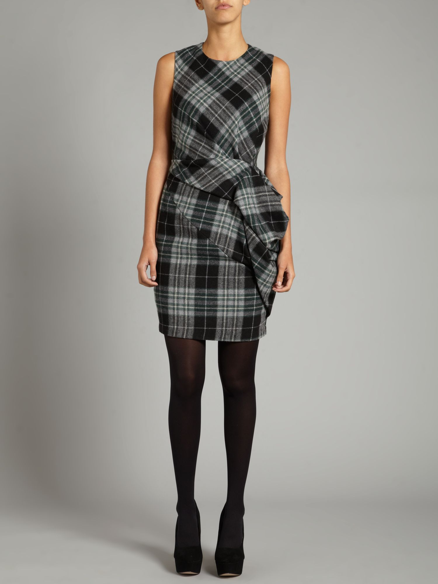 Brandy check dress