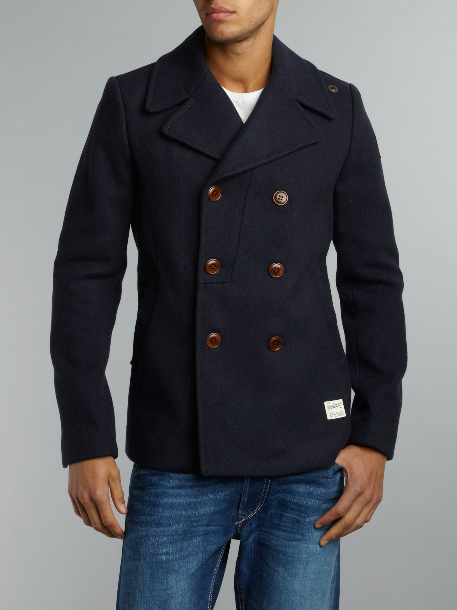 Wool double buttoned coat