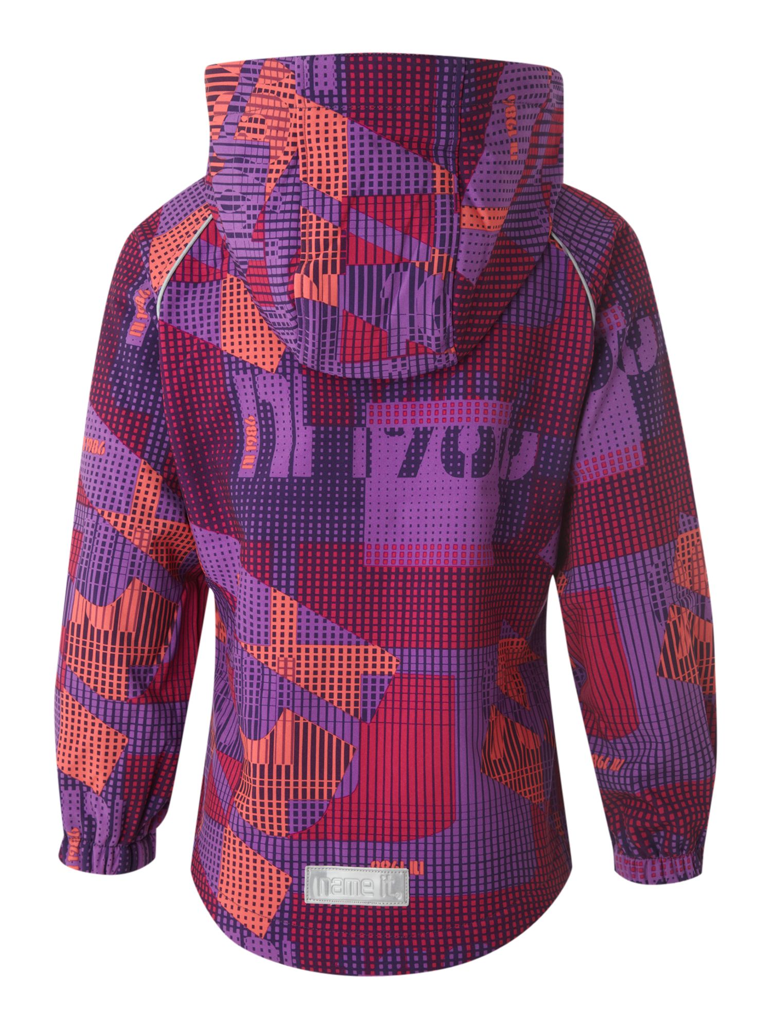 Girl`s printed Ski hooded jacket