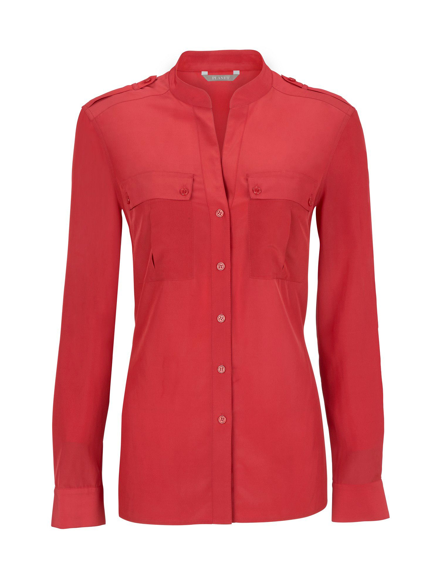 Planet Womens Planet Ruby red utility blouse, Red product image