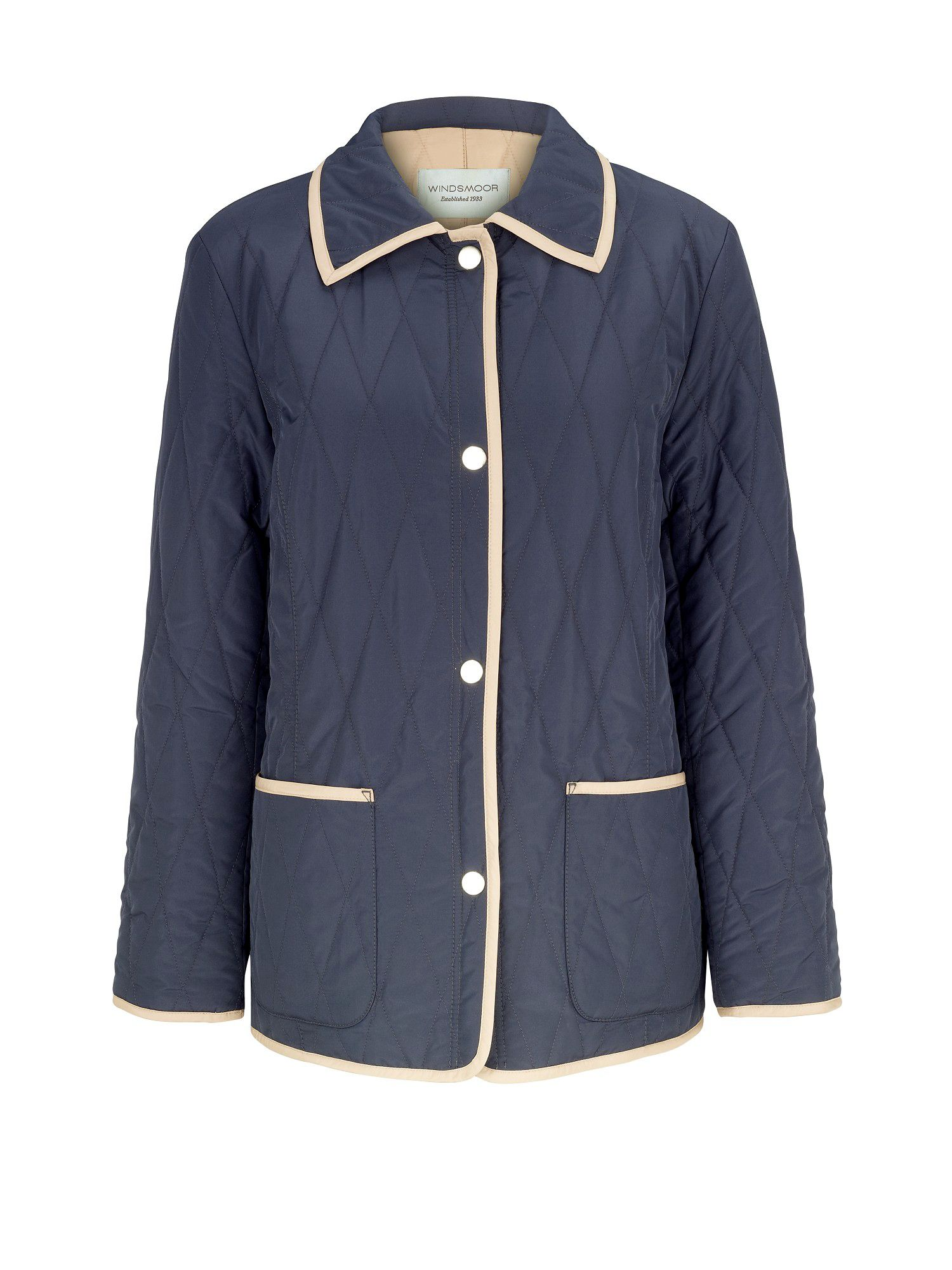 Reversible navy raincoat
