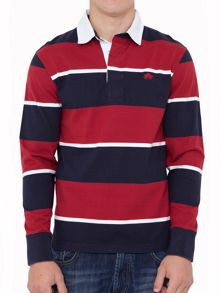 Raging Bull 3 stripe long sleeve rugby