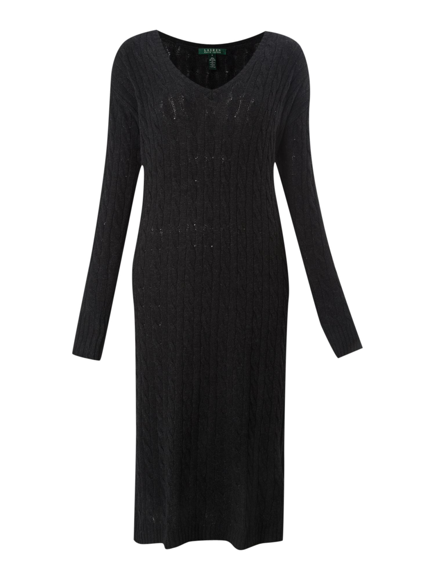 Kriseta cable knit v-neck dress