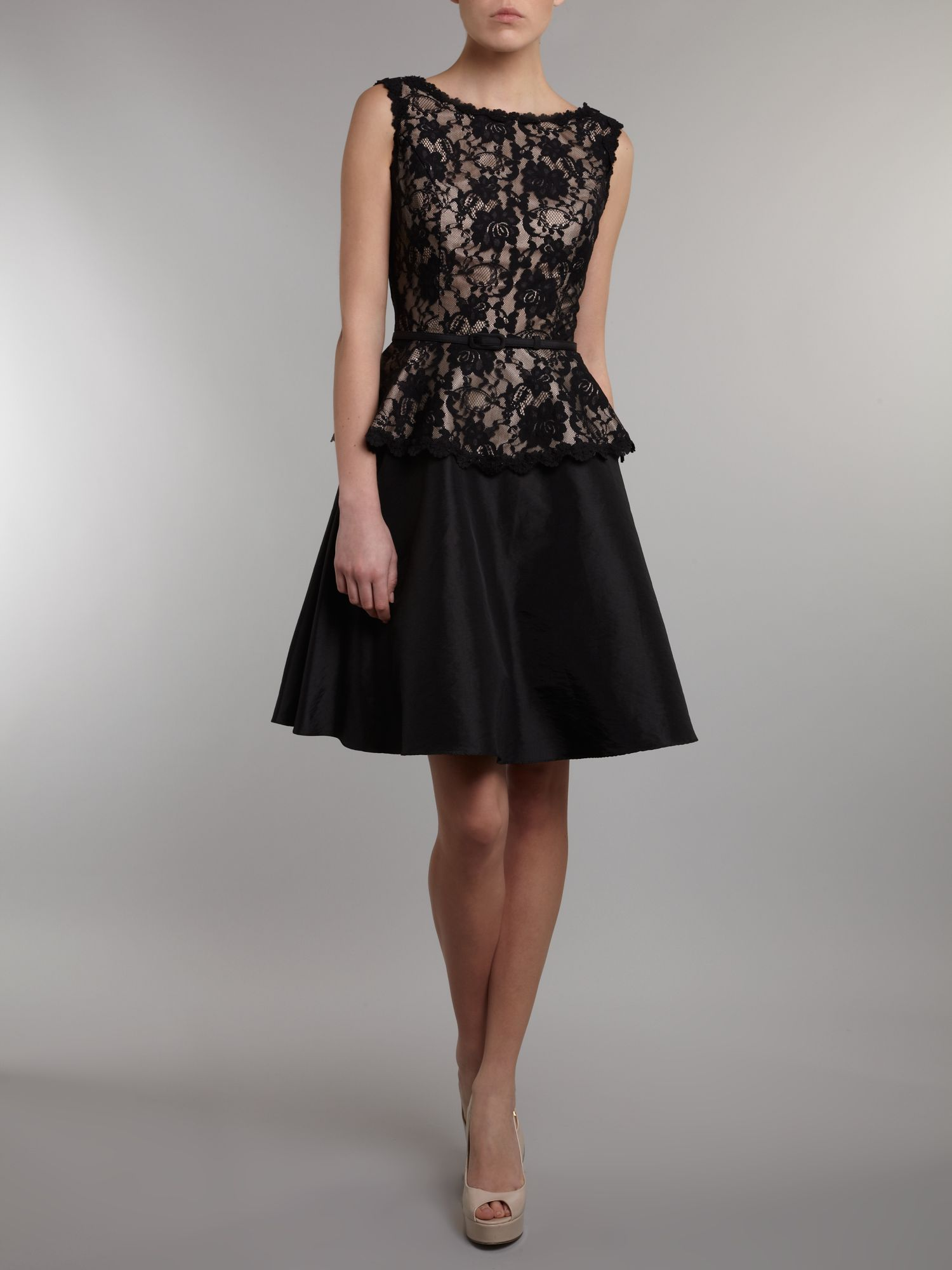Lace dress with peplum