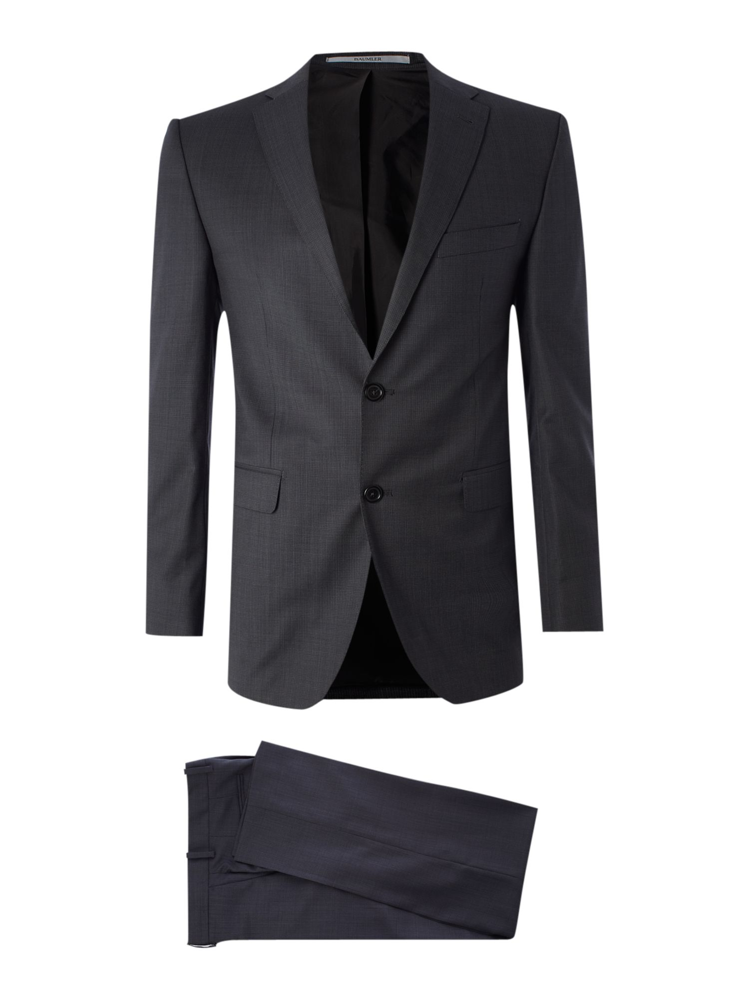 Single breasted micro check formal suit