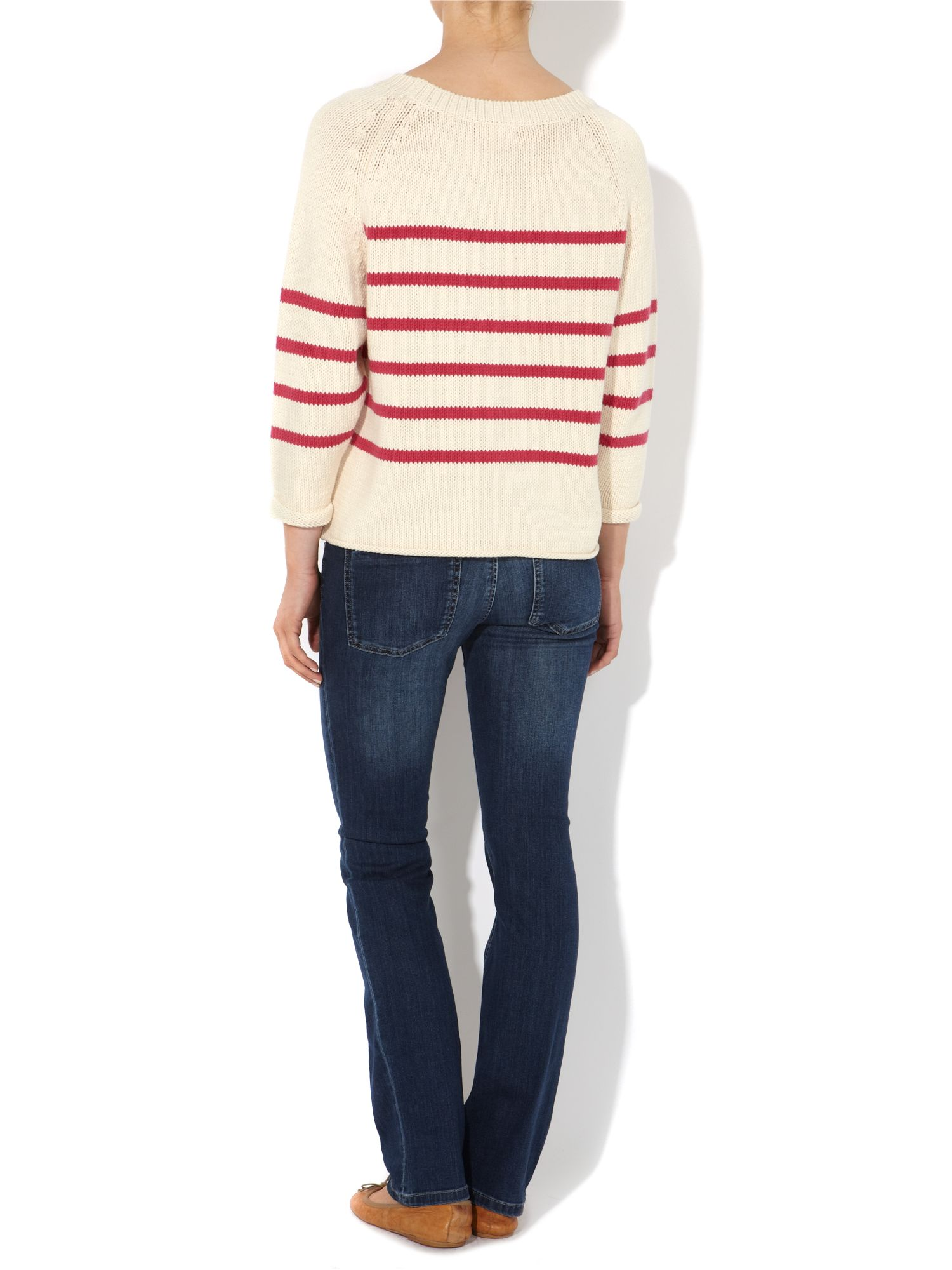 Ladies Striped Slouchy Jumper