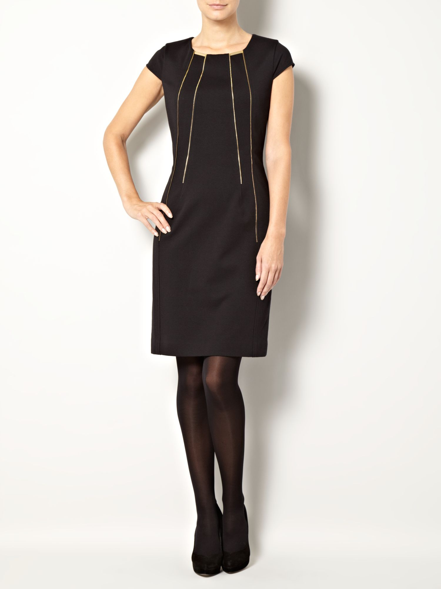 Zip detail dress