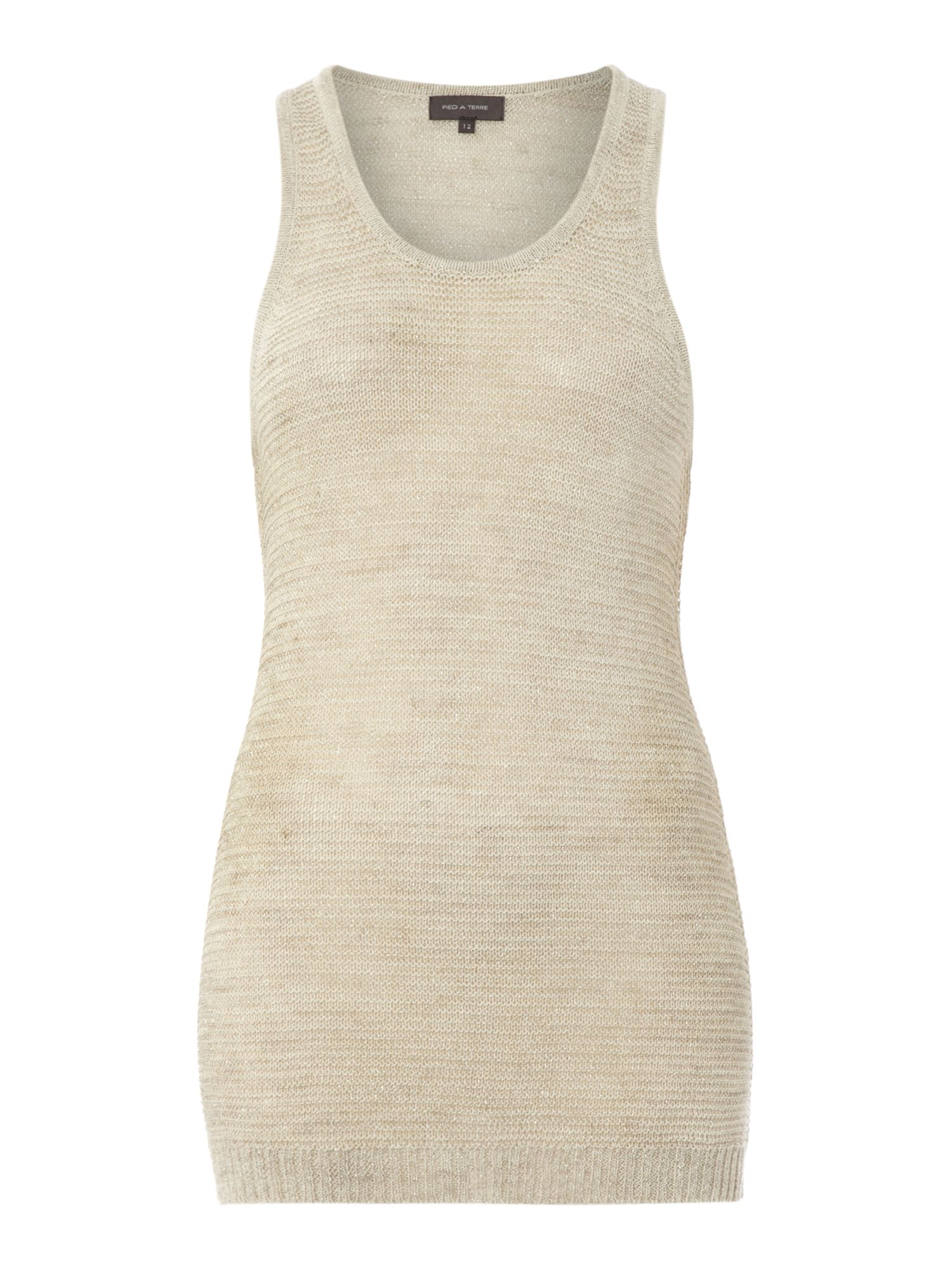 Knitted Lurex Vest