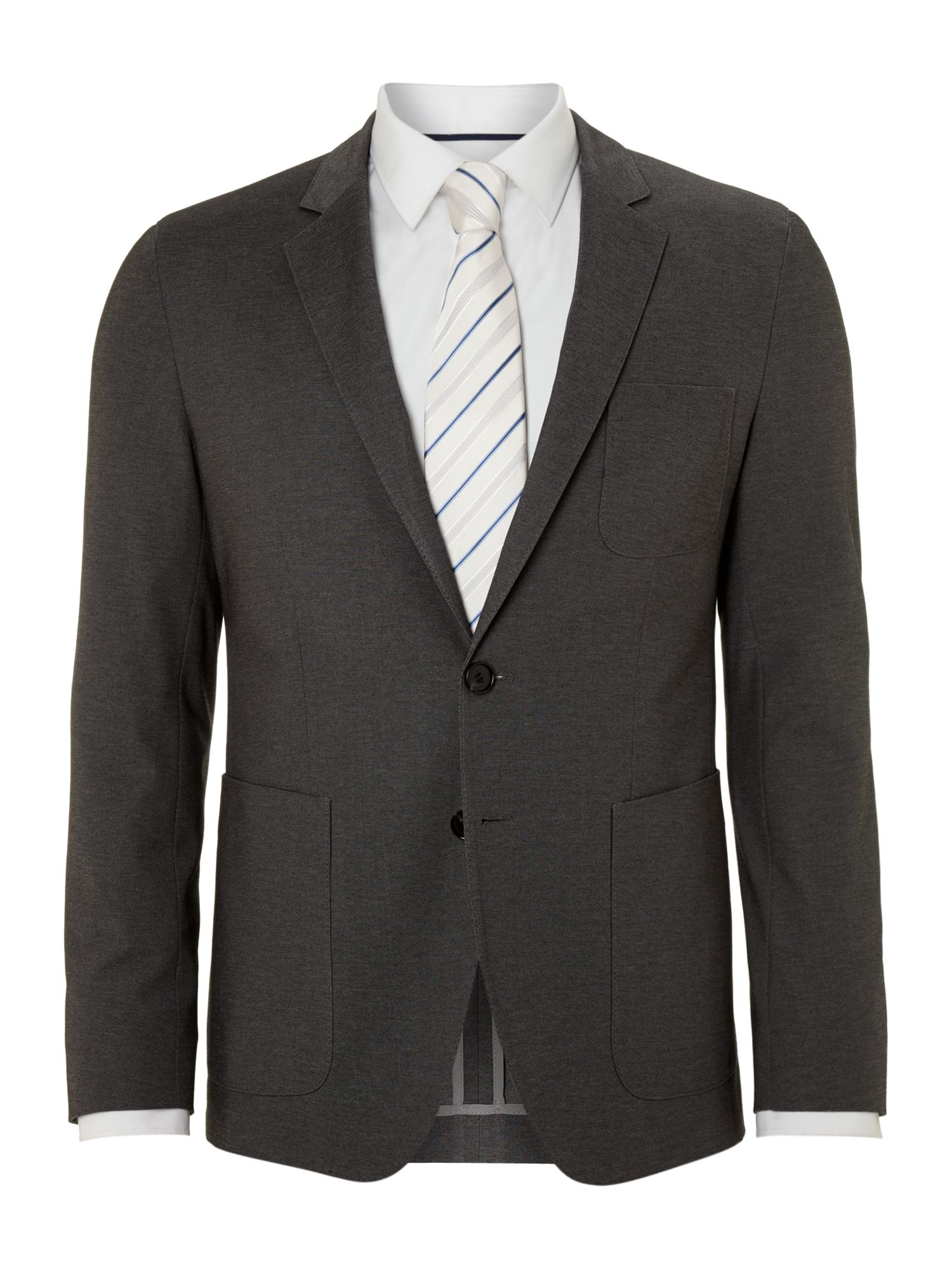 Jersey patch pocket suits