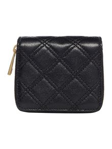 Iconic quilted small ziparound purse