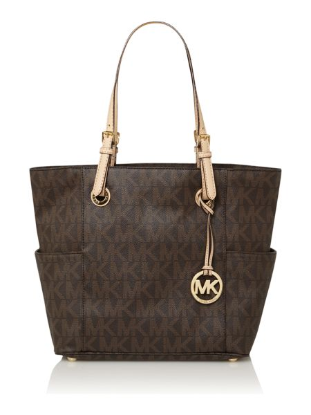 Michael Kors Jet set item monogram tote