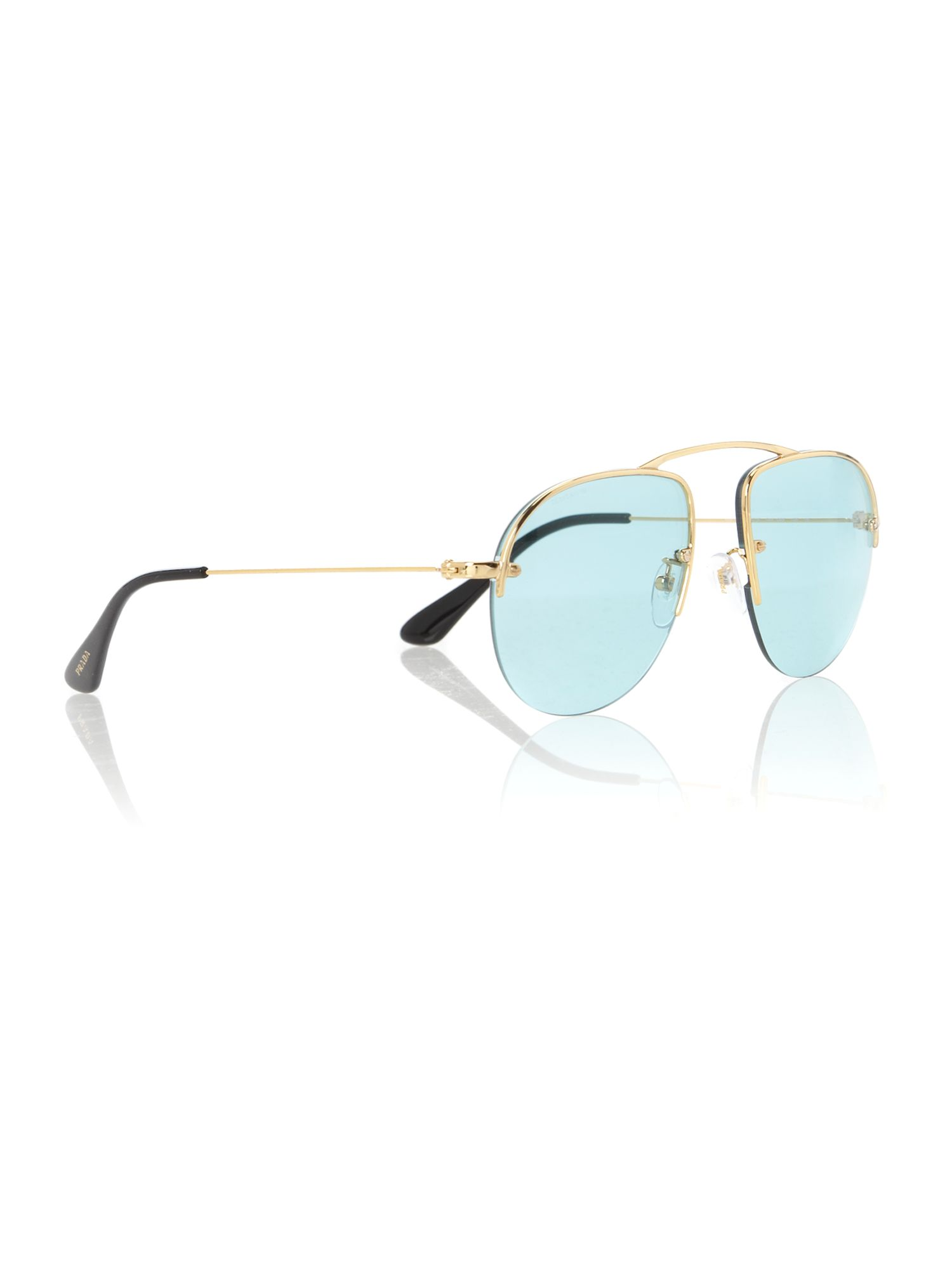 Mens PR58OS Parallel Universes Gold Sunglasses