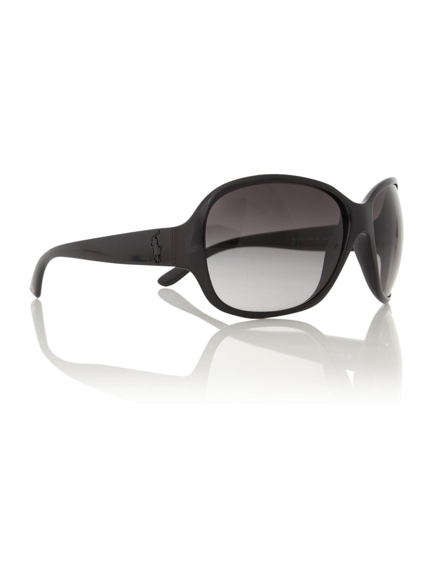 Ladies RL8090 Big Pony Black Sunglasses
