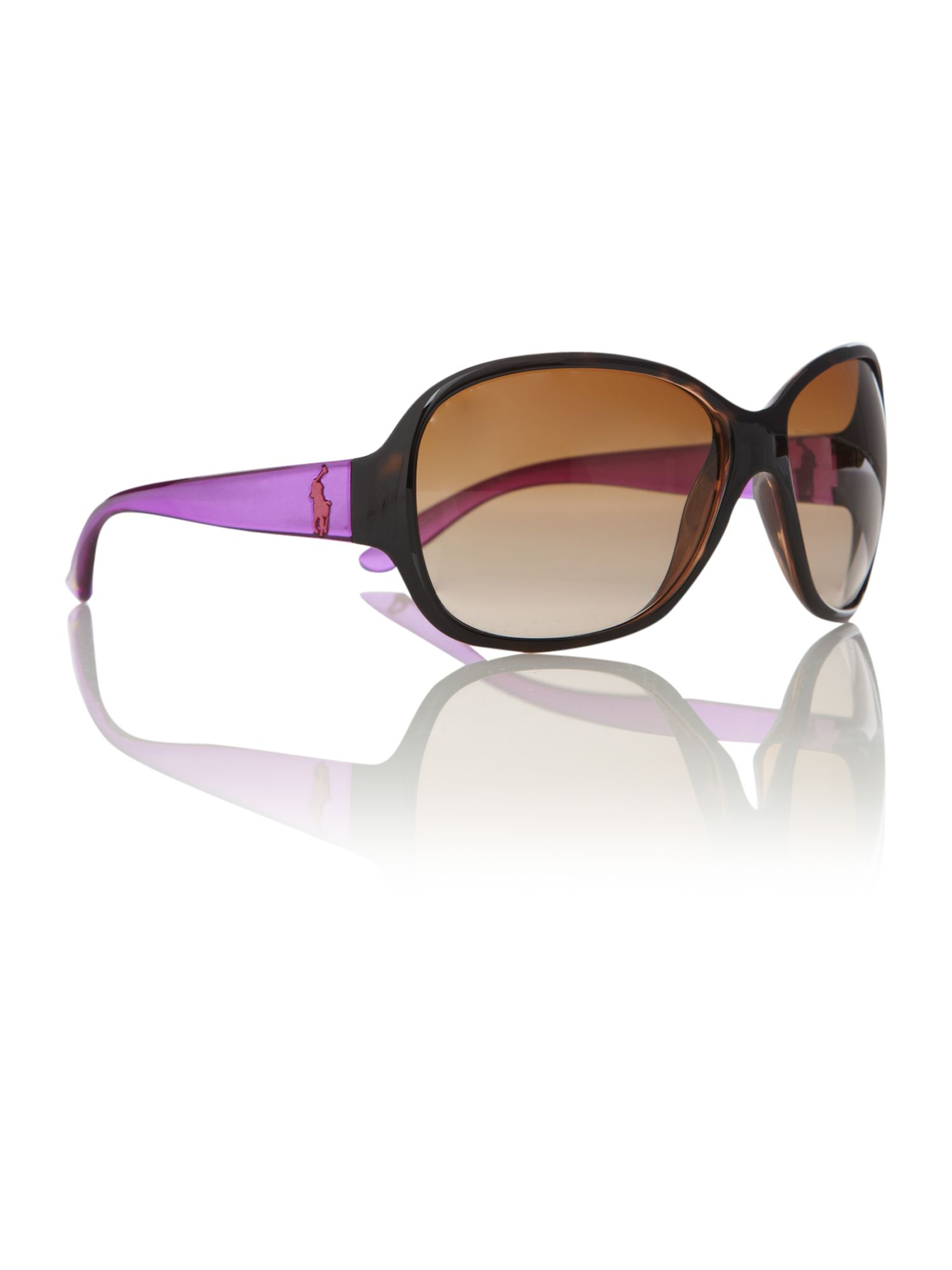 Ladies RL8090 Big Pony Havana Sunglasses