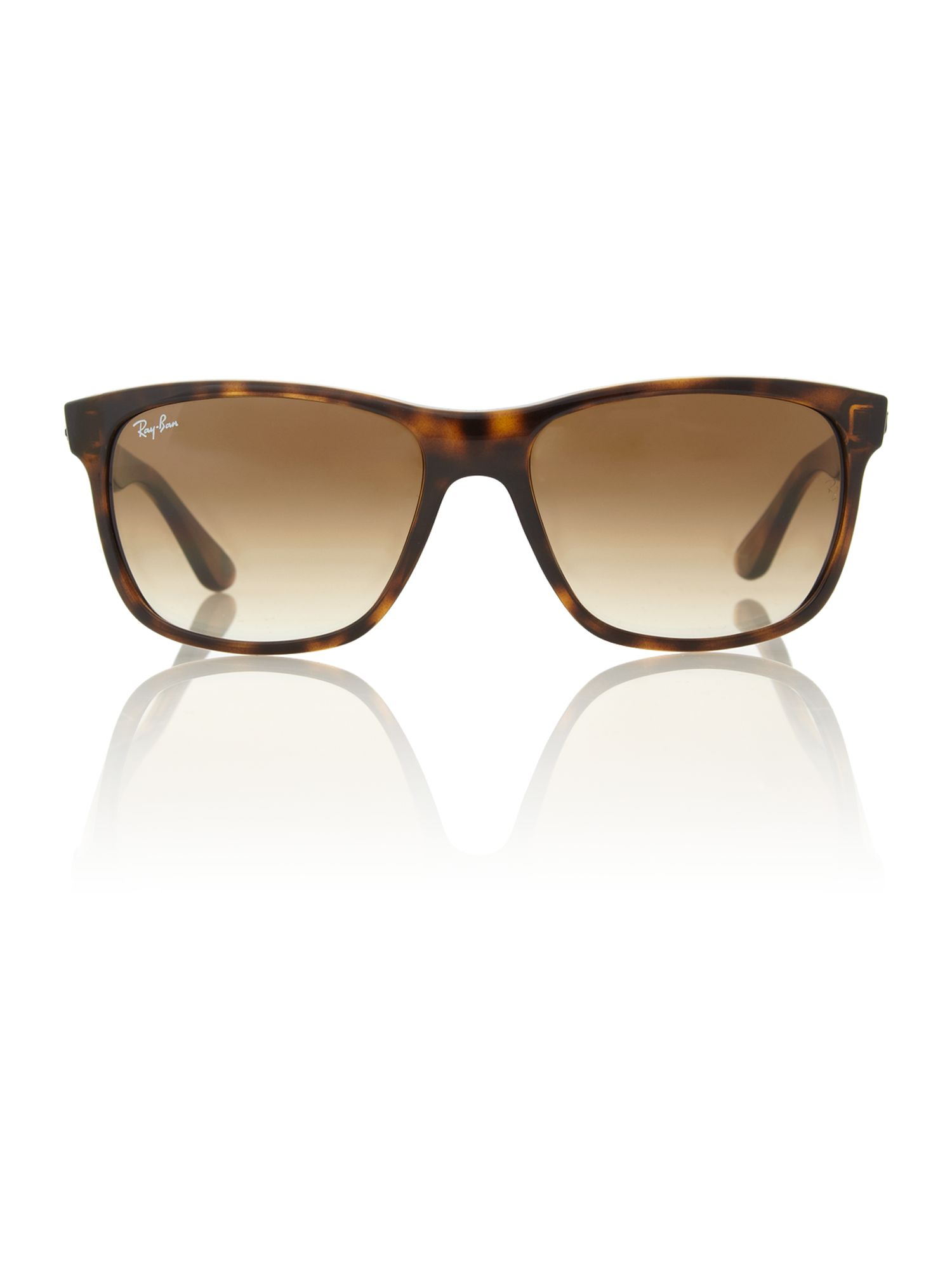 Unisex RB4181 Light Havana Square Sunglasses