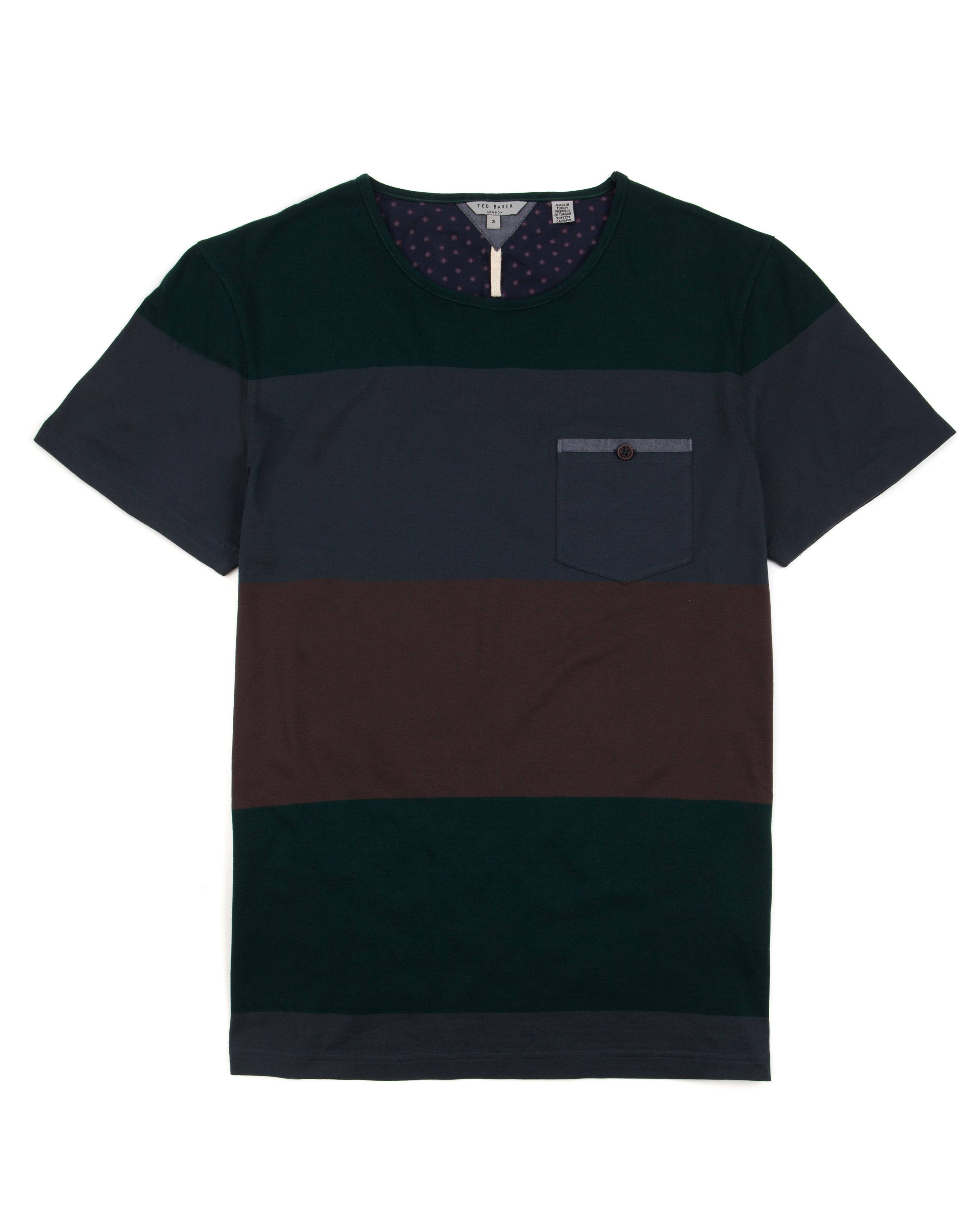 Ted Baker Mens Ted Baker Bigstri striped T-shirt, product image