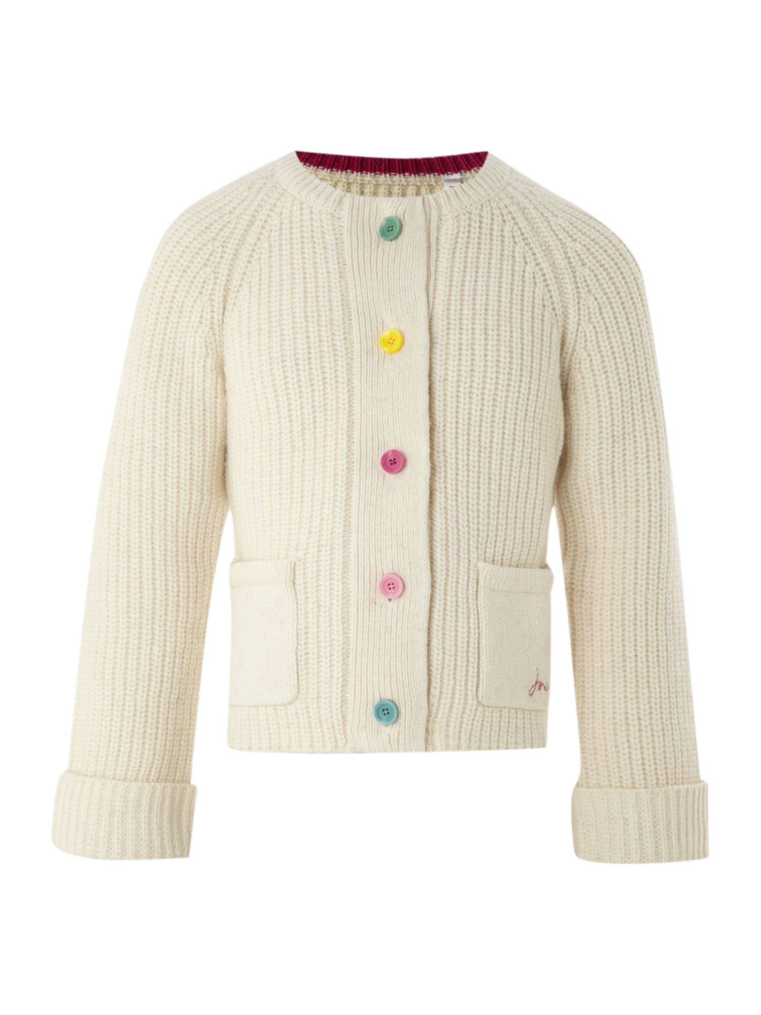 Girls long-sleeved chunky cardigan
