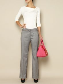 Bias waist band trouser