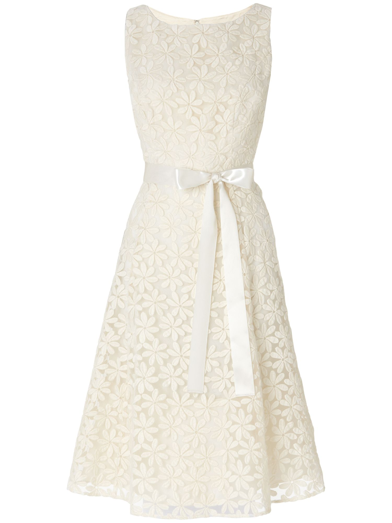 Daisy embroidered prom dress