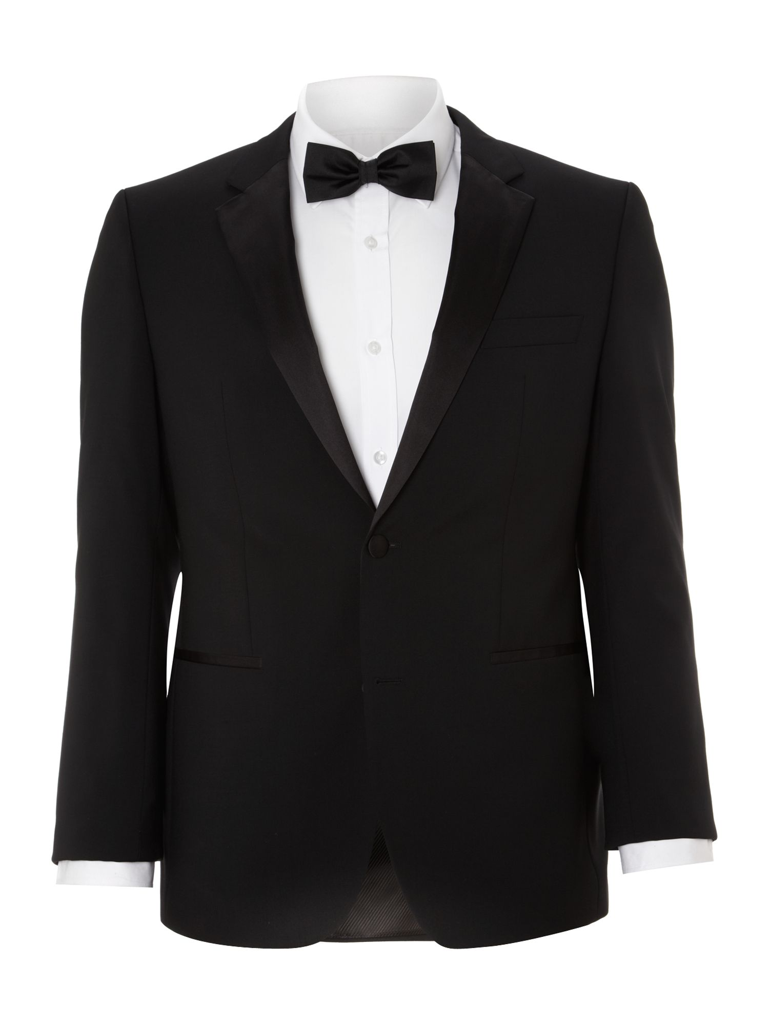 Single breasted sheen with taped edge lapel suit
