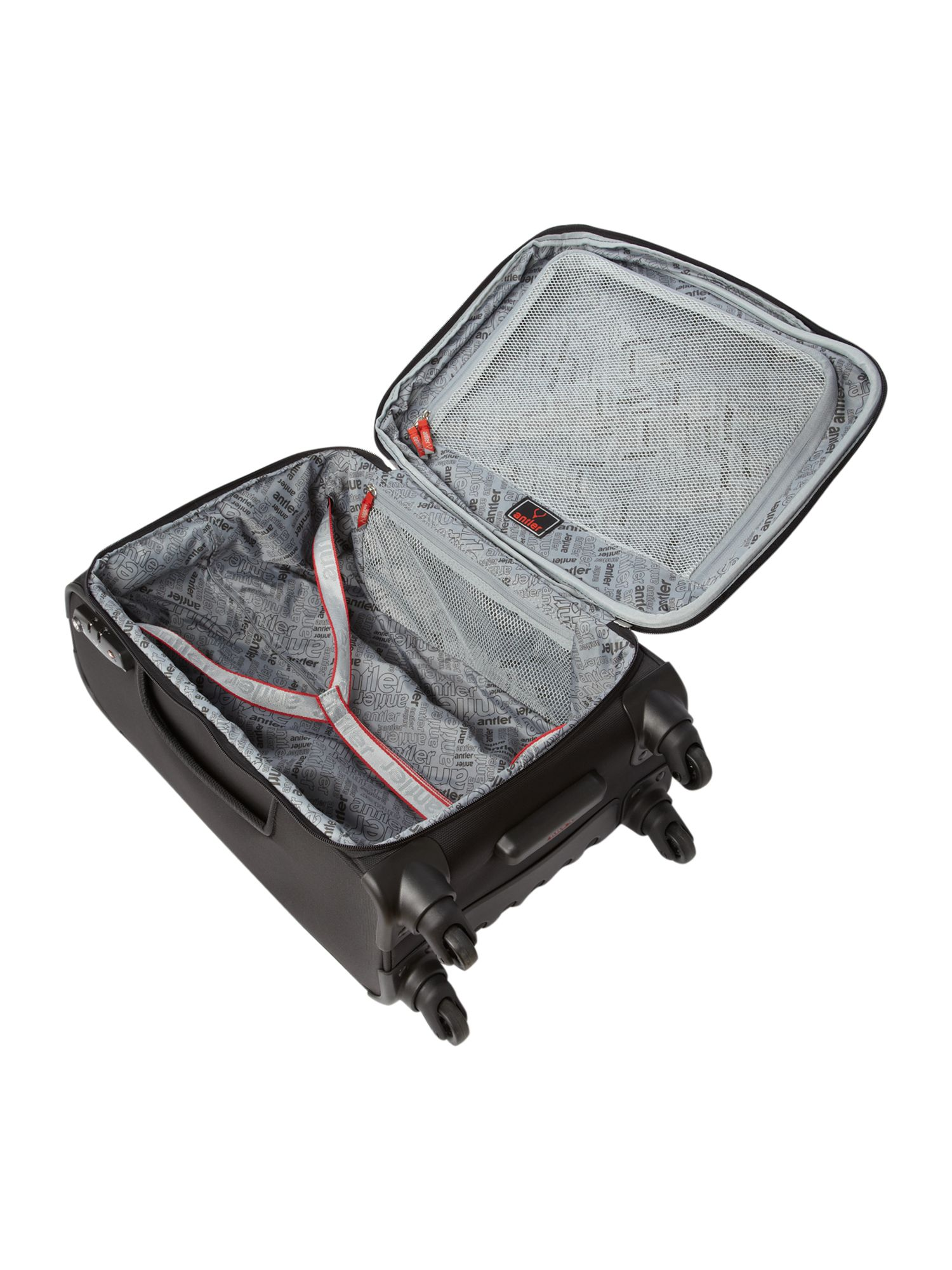Cyberlite Black & Red 56cm 4 Wheel Case