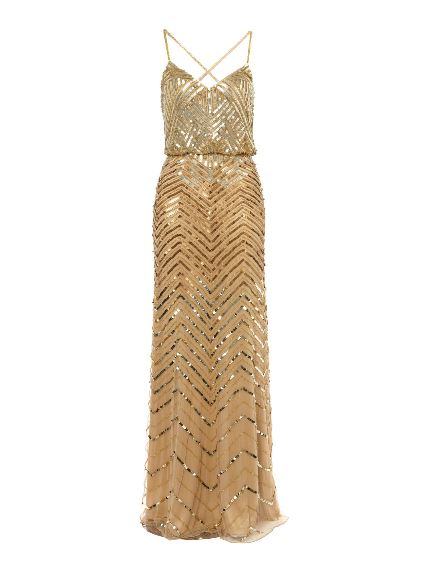 Beaded blouson style dress