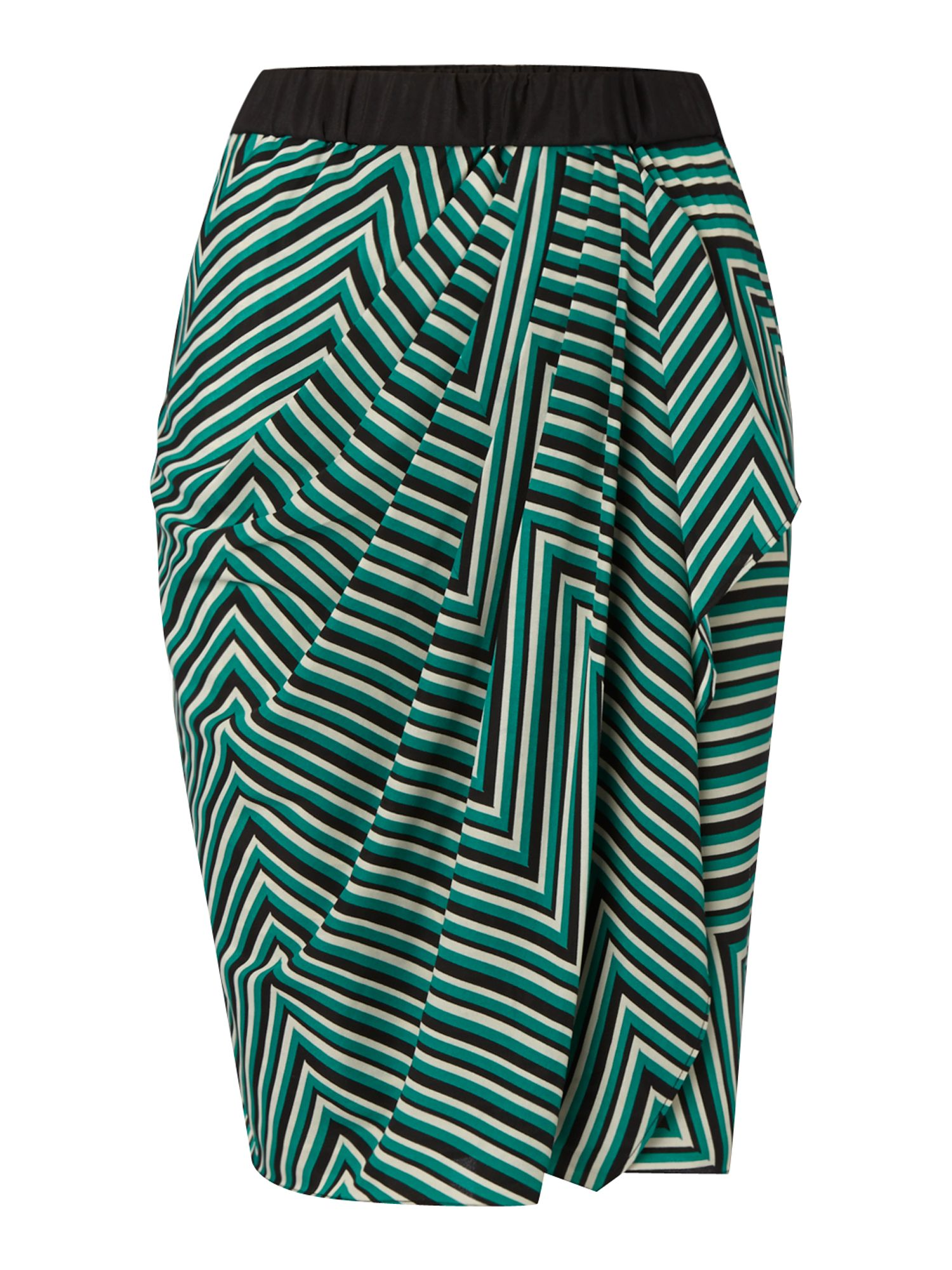 Cutabout stripe wrap skirt