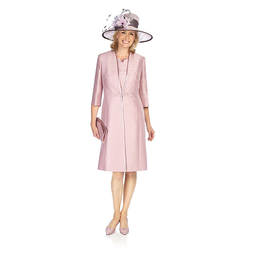 Jacques Vert Iced pink dress coat Pink