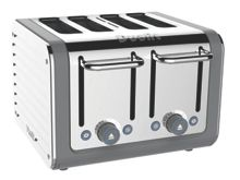 4 slot Architect toaster grey 46526