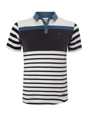 Firetrap Block striped polo shirt