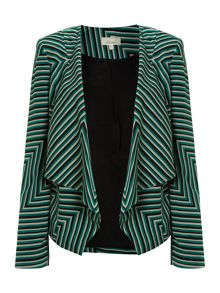 Cutabout stripe waterfall jacket