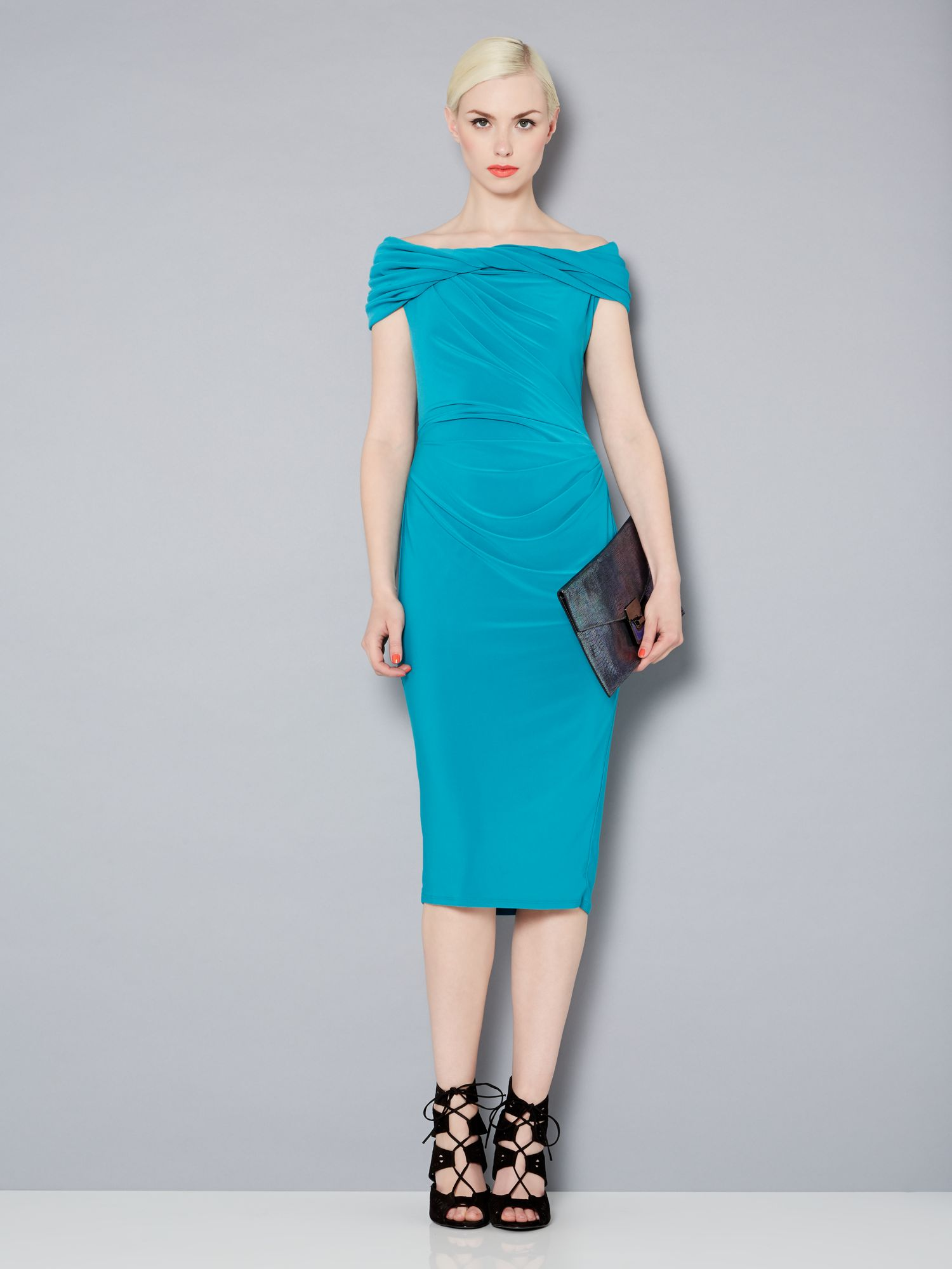 Slinky knot jersey dress