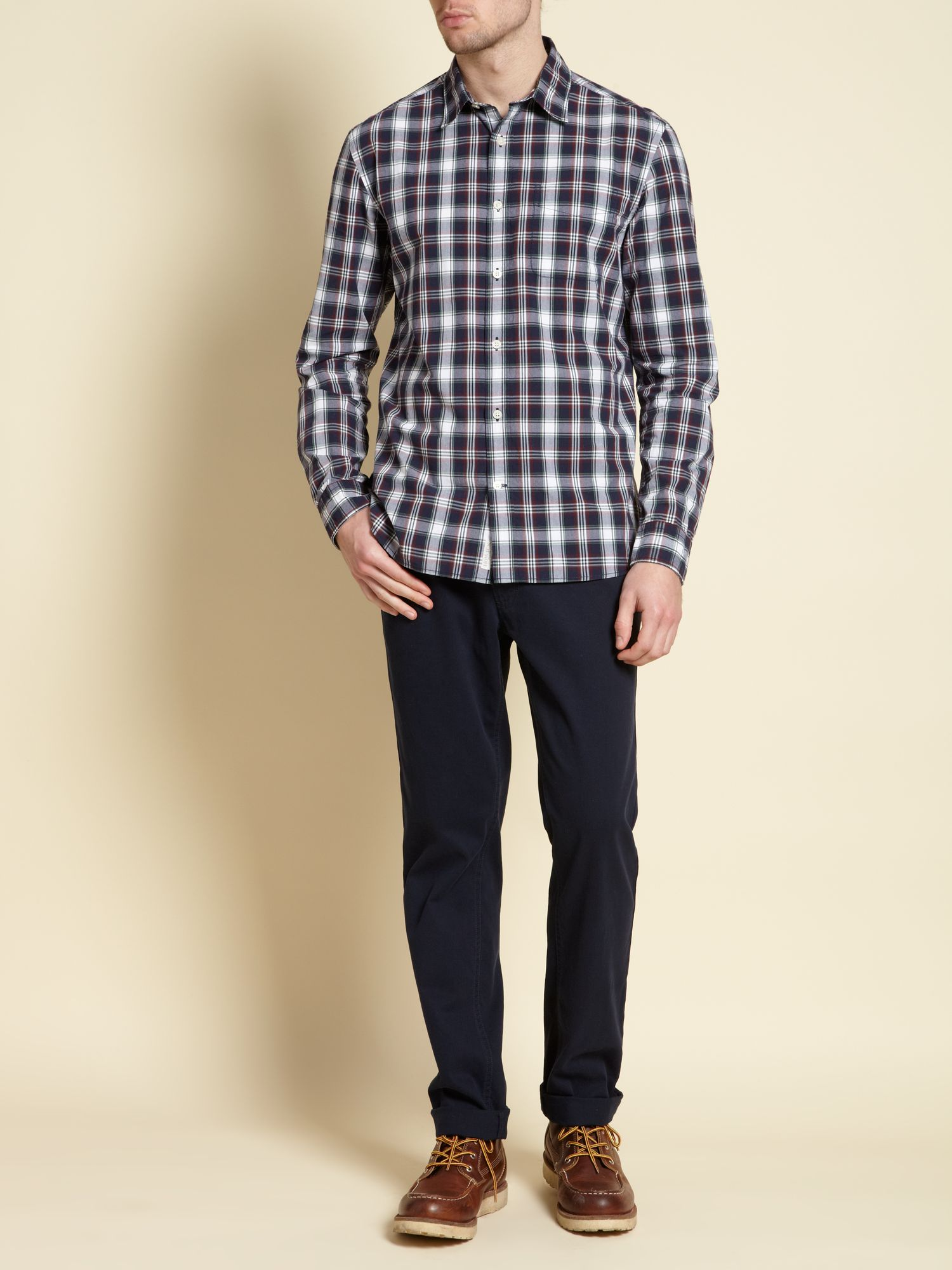Miller check long sleeved shirt