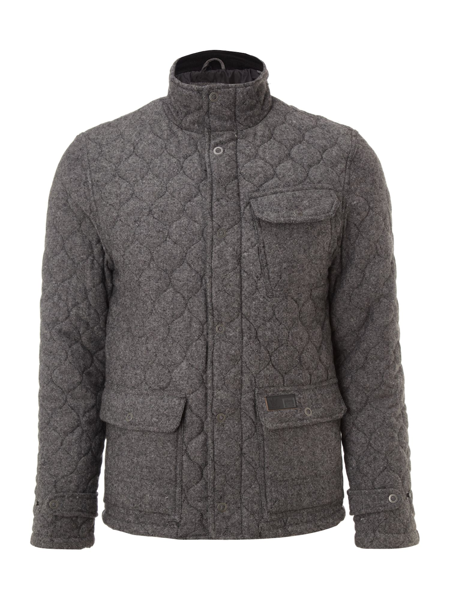 Three pocket quilted jacket