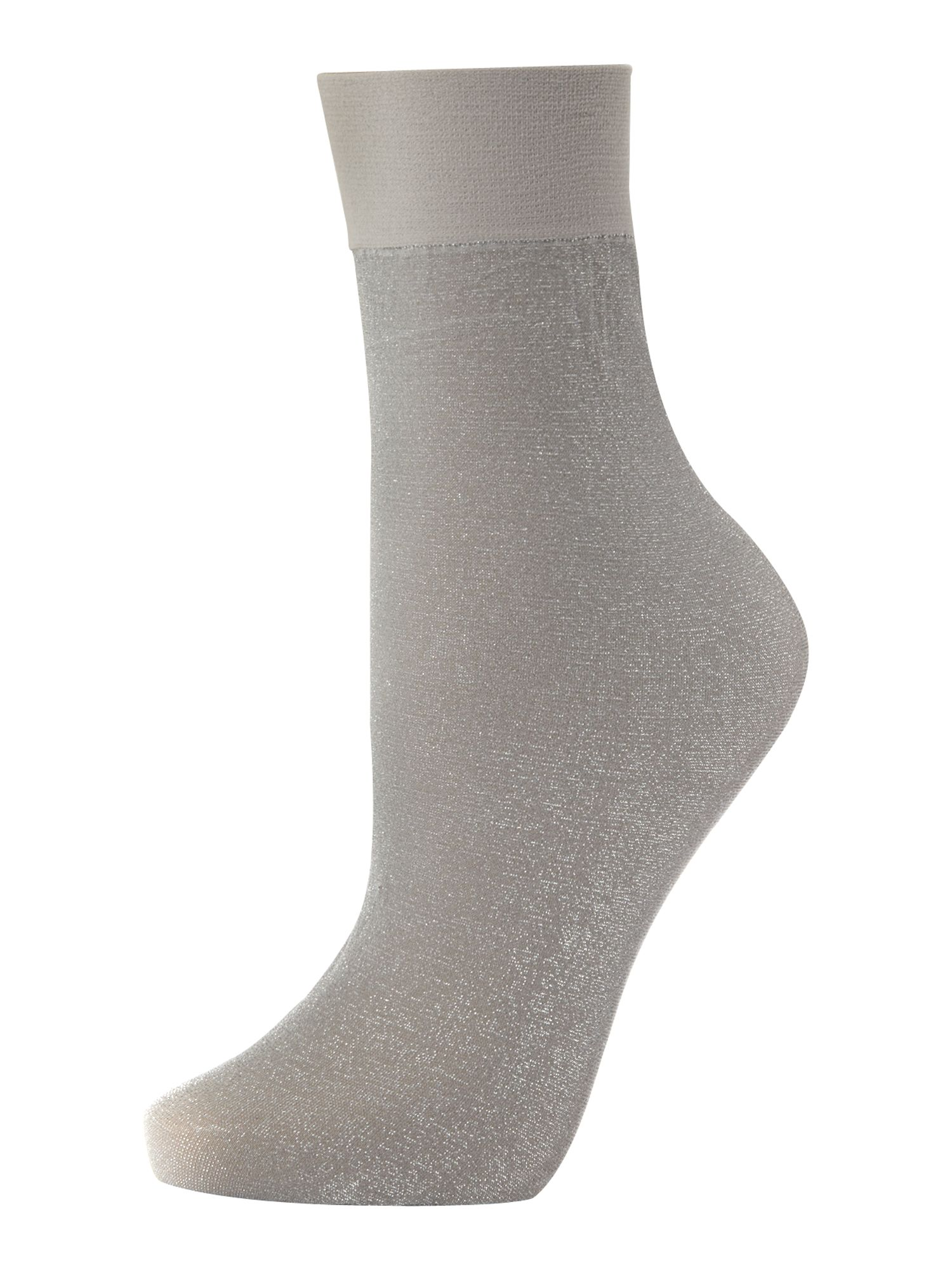 Lurex sparkle ankle socks