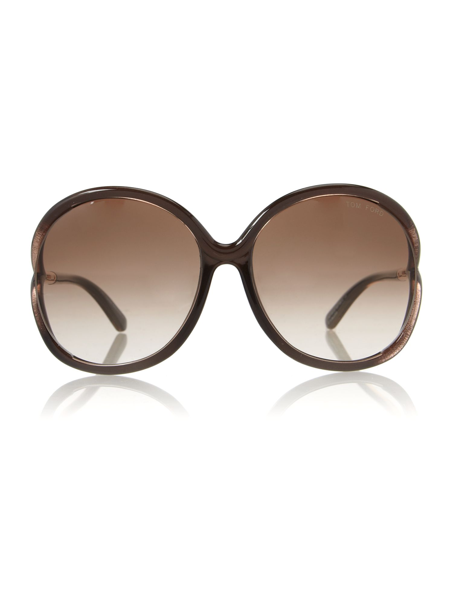 Ladies FT0252 Rhi Brown Sunglasses