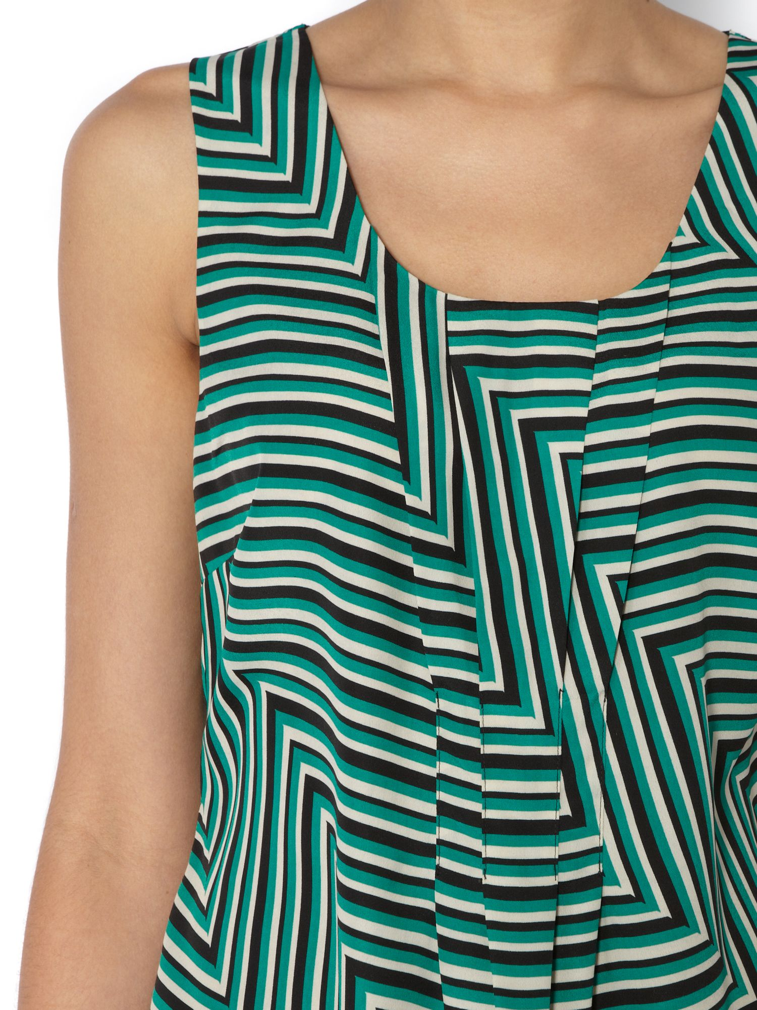 Cutabout stripe shell top