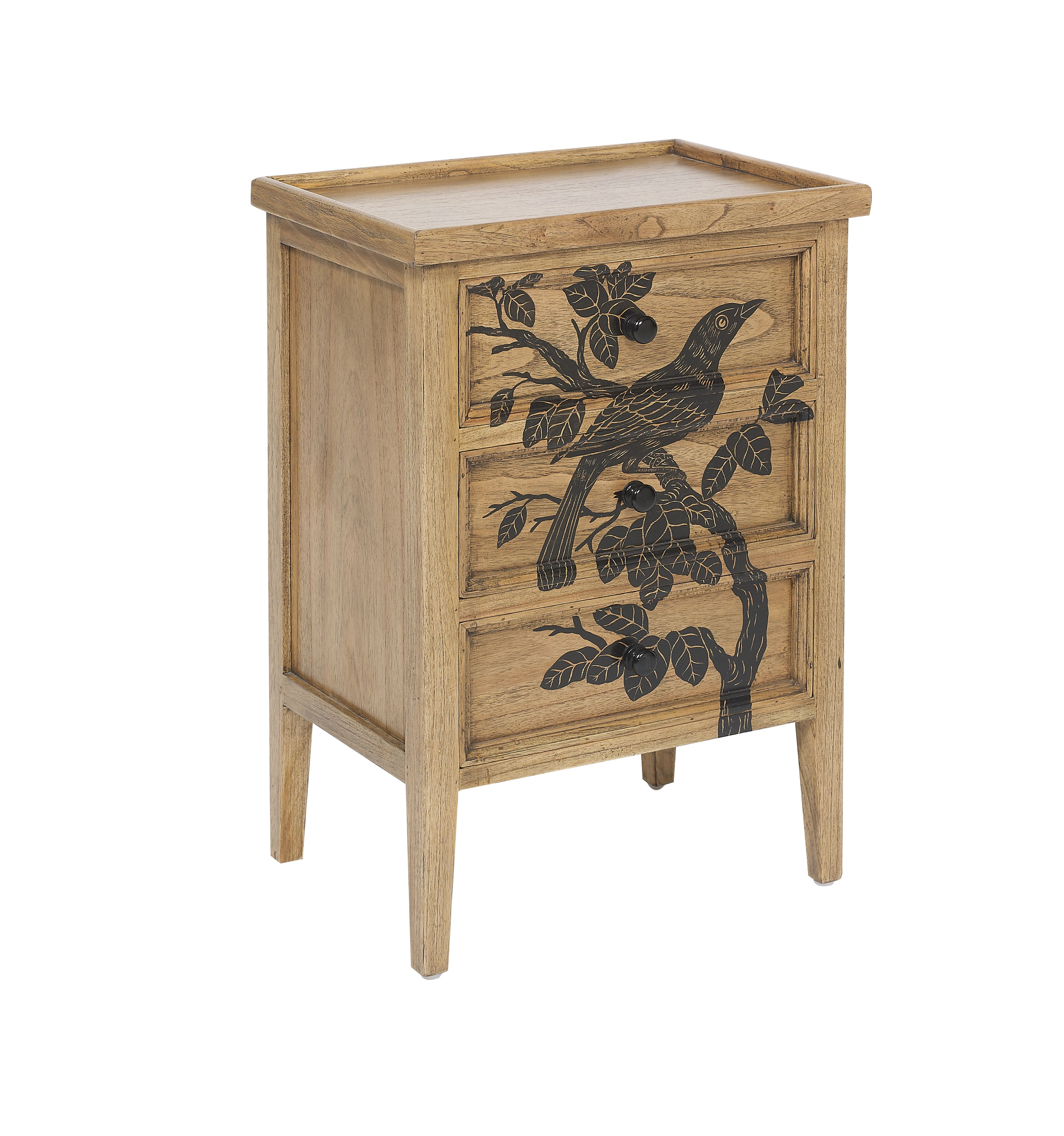 Blackbird 3 drawer bedside chest