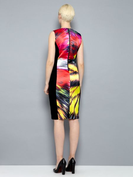 Pied a Terre Printed ponte panelled dress