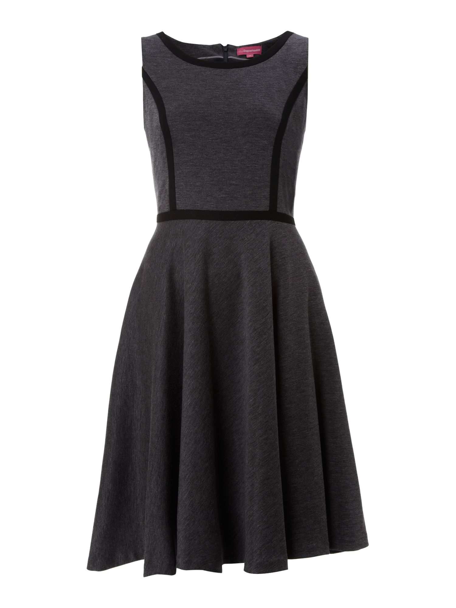 Ponte full skirt dress